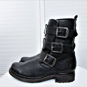Frye Valerie Shearling Strappy ankle boots 7